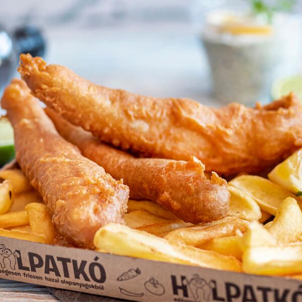 Fish&chipsünk ropogós sültburgonyával